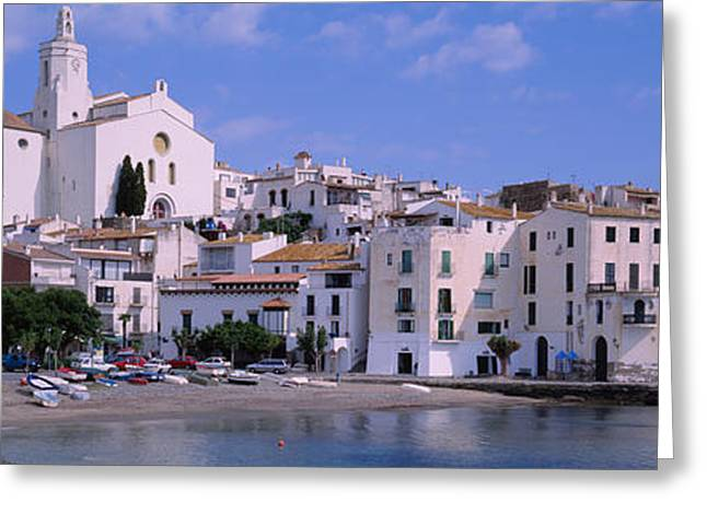 Costa Greeting Cards - Buildings On The Waterfront, Cadaques Greeting Card by Panoramic Images