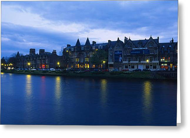 Electric Building Greeting Cards - Buildings On The Waterfront, Inverness Greeting Card by Panoramic Images