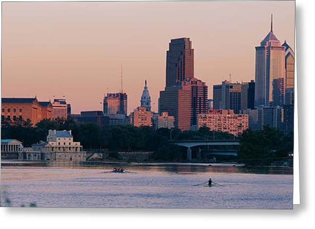 Museums Art Greeting Cards - Buildings On The Waterfront Greeting Card by Panoramic Images