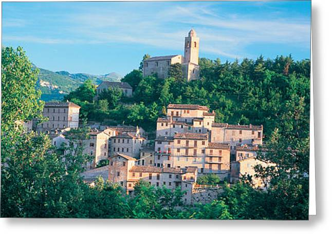 March Greeting Cards - Buildings Surrounded By Trees Greeting Card by Panoramic Images