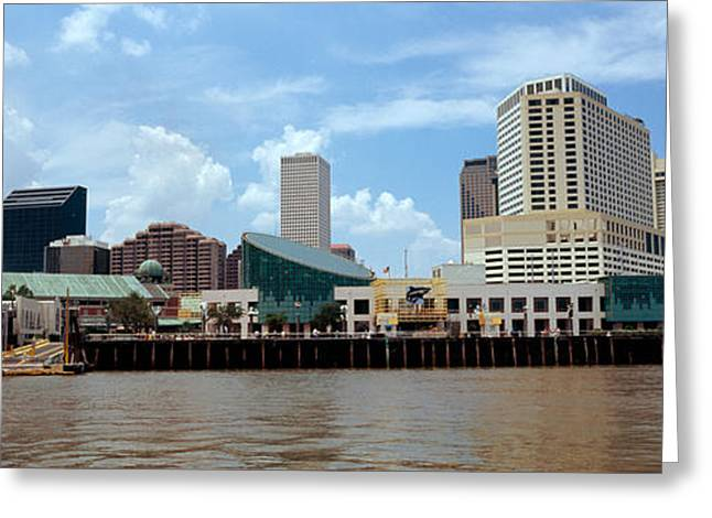 Louisiana Greeting Cards - Buildings Viewed From The Deck Greeting Card by Panoramic Images