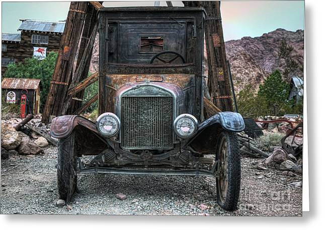 Ford Model T Car Greeting Cards - Built Ford Tough Greeting Card by Eddie Yerkish