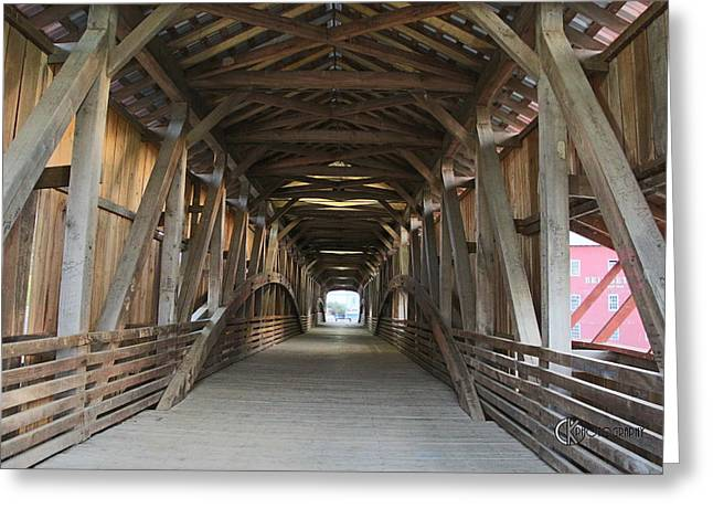Bridgeton Covered Bridge Greeting Cards - Built to Last - Again Greeting Card by Clayton Kelley