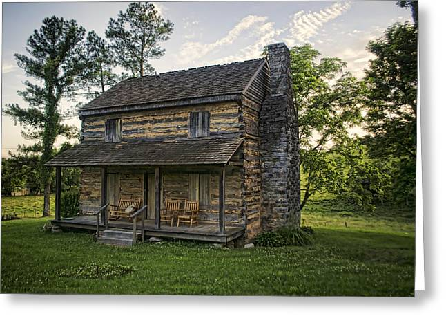 Log Cabins Greeting Cards - Built to Last Greeting Card by Heather Applegate