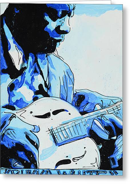 Booker T. Washington Greeting Cards - Bukka White Greeting Card by Jenny Hall
