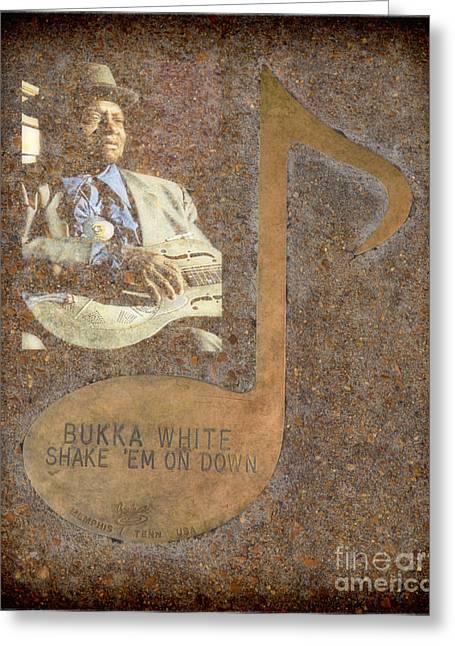 Tennessee Landmark Greeting Cards - Bukka White Note Greeting Card by Donna Van Vlack