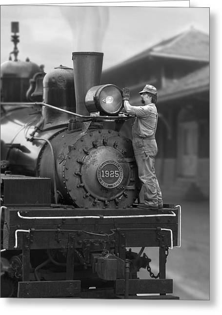 Locomotive Greeting Cards - Bulb Change Greeting Card by Mike McGlothlen