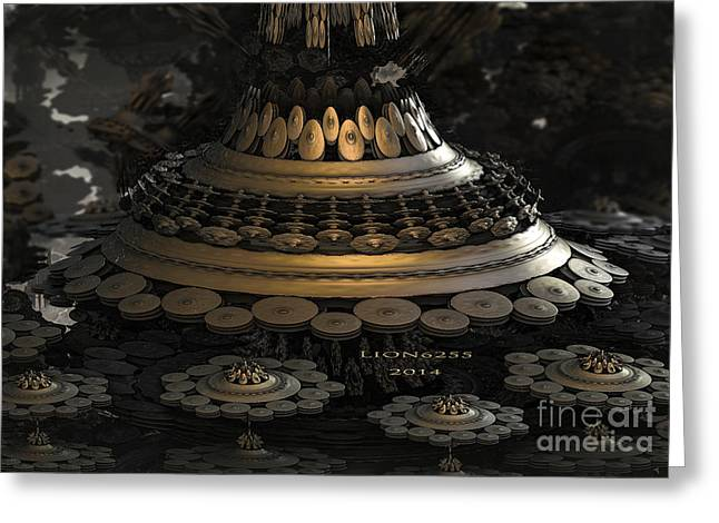 Algorithmic Greeting Cards - Bulb Tower Greeting Card by Melissa Messick