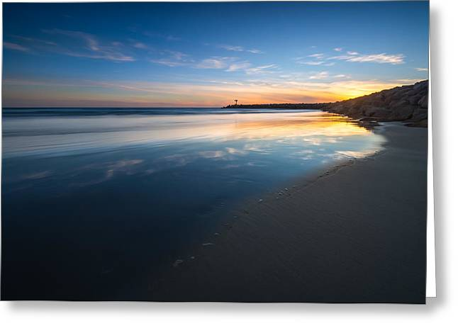 Singh Greeting Cards - Bule Reflections Greeting Card by Larry Marshall