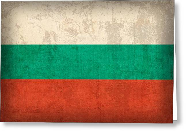 National Mixed Media Greeting Cards - Bulgaria Flag Vintage Distressed Finish Greeting Card by Design Turnpike