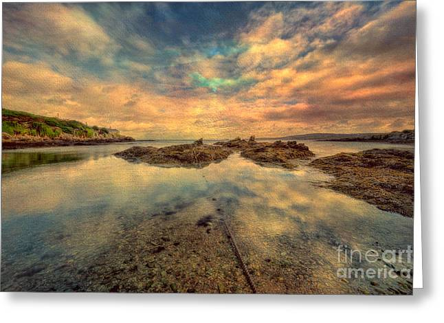 Anglesey Greeting Cards - Bull Bay Greeting Card by Adrian Evans