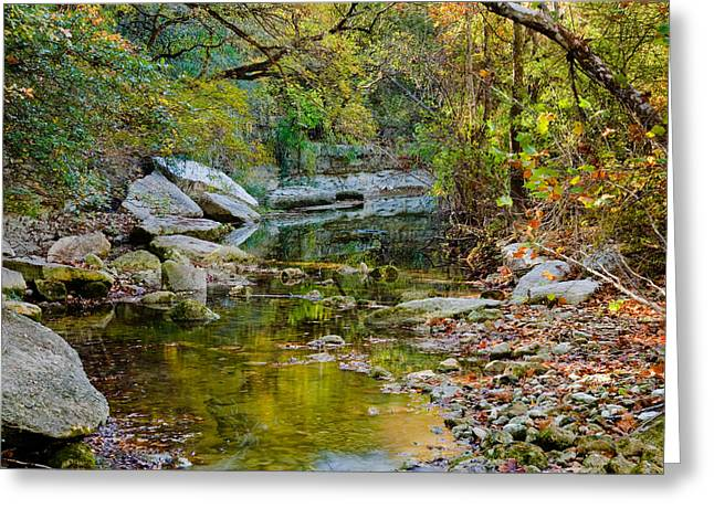 Creek Greeting Cards - Bull Creek In The Fall Greeting Card by Mark Weaver