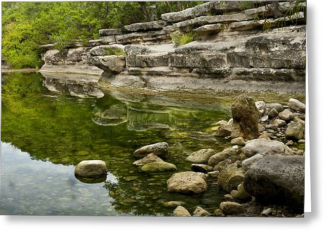 Texas Landscape Greeting Cards - Bull Creek Greeting Card by Mark Weaver