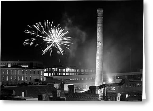 4th July Photographs Greeting Cards - Bull Durham Fireworks Greeting Card by Jh Photos