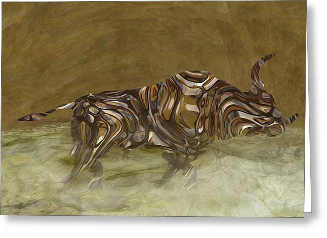 Shell Texture Greeting Cards - Bull Greeting Card by Jack Zulli