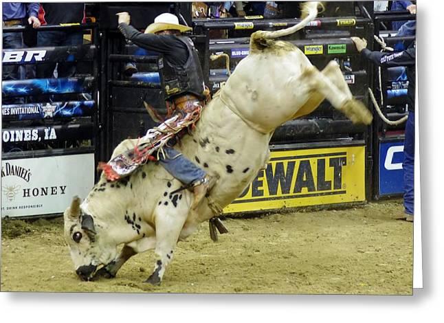 bull Greeting Card by John Pratt
