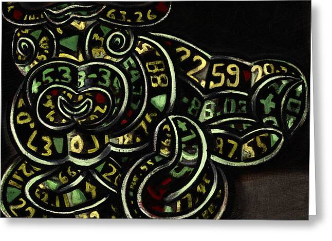 Stock Ticker Greeting Cards - Bull Market Art Print Greeting Card by Tommervik