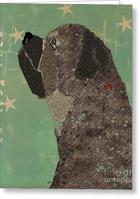 Portriats Greeting Cards - Bull Masstiff Greeting Card by Bri Buckley