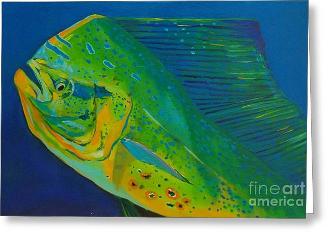 Water Grouper Print Greeting Cards - Bull portrait  Greeting Card by Yusniel Santos