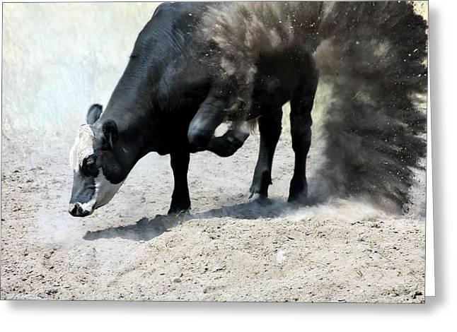 Sacred Bull Greeting Cards - Bull Power Greeting Card by Karon Melillo DeVega