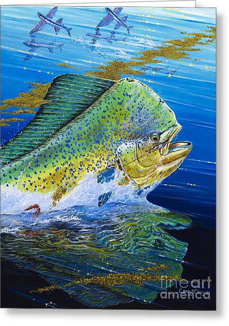 Striped Marlin Greeting Cards - Bull Reflection Off0032 Greeting Card by Carey Chen