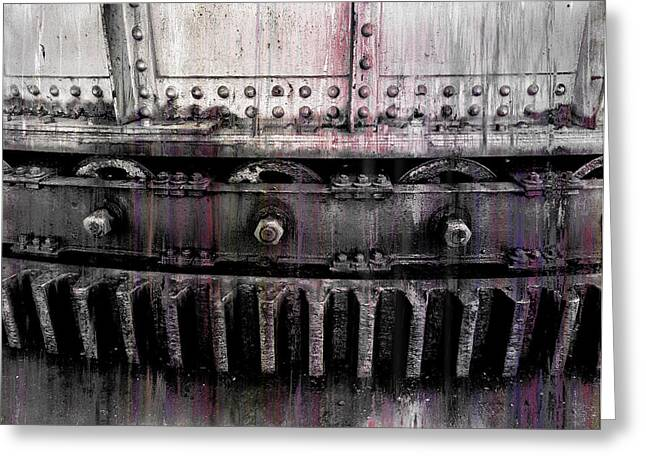 Smelter Greeting Cards - Bull Ring Gear Greeting Card by Daniel Hagerman