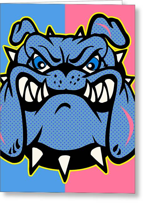 Pit Bull Digital Art Greeting Cards - Bulldog 5 Greeting Card by Mark Ashkenazi