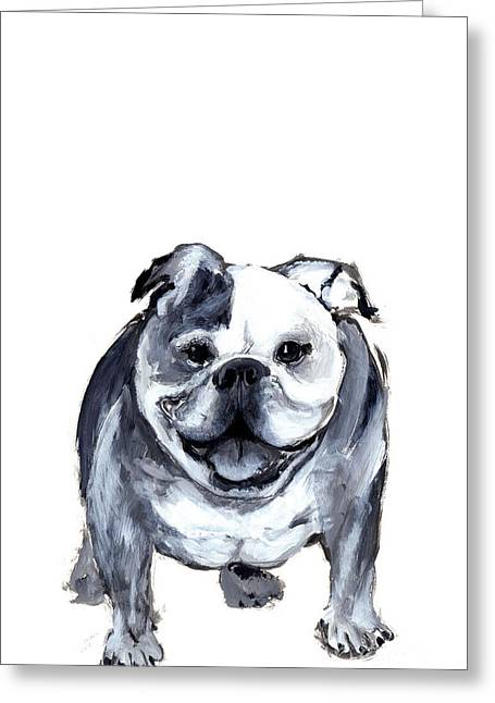 Bulldog  Greeting Card by Barbara Marcus