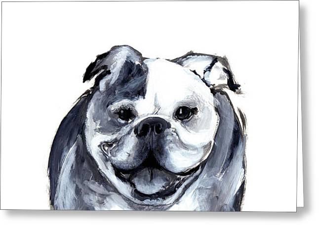 Bulldog  Greeting Card by Barbara Marcus