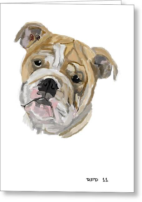 Owner Digital Greeting Cards - Bulldog Greeting Card by Bob Donner