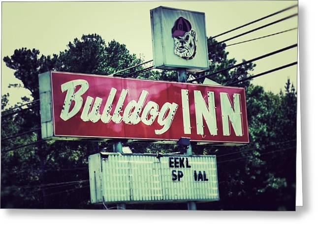 Georgia Bulldog Greeting Cards - Bulldog Inn Greeting Card by Brandon Addis