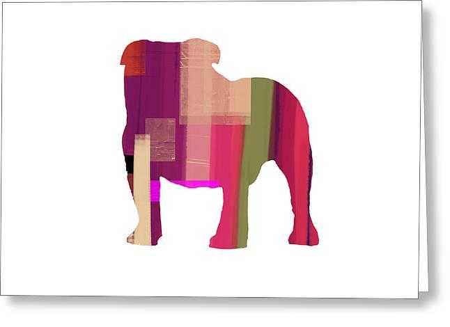 Bulldog Greeting Card by Naxart Studio