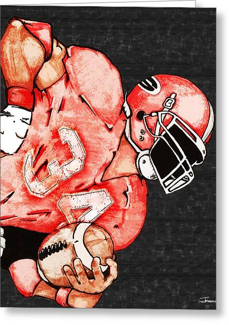 Tackle Drawings Greeting Cards - Bulldog Greeting Card by Jerrett Dornbusch