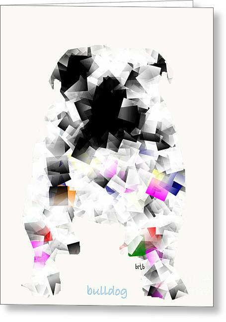 Abstract Of Dogs Greeting Cards - Bulldog Mode  Greeting Card by Bri Buckley