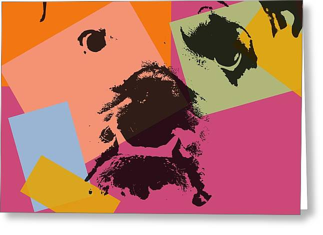 Family Pet Greeting Cards - Bulldog Pop Art Greeting Card by Dan Sproul