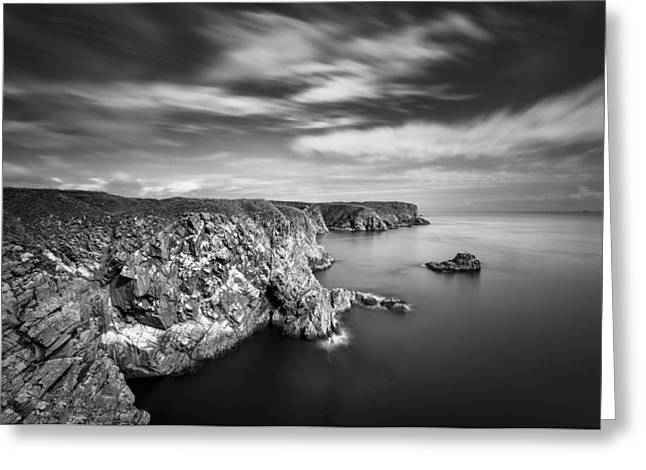 Headlands Greeting Cards - Bullers of Buchan Cliffs Greeting Card by Dave Bowman