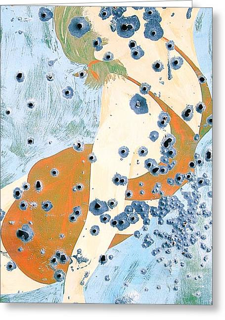 Chico Greeting Cards - Bullet Holes Phone Case Greeting Card by Edward Fielding
