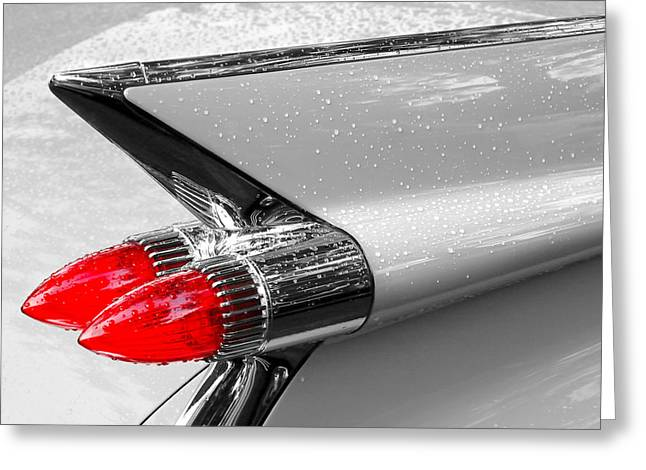 Chrome Greeting Cards - Bullet Tail Lights Greeting Card by Jim Hughes