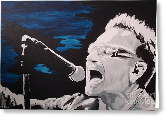 U2 Paintings Greeting Cards - Bullet The Blue Greeting Card by Stuart Engel