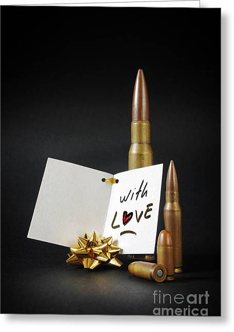 Surprise Greeting Cards - Bullets For You Greeting Card by Carlos Caetano