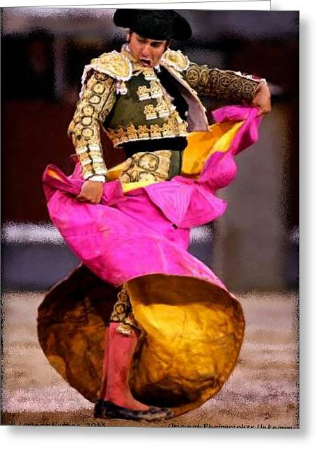 Bullfighter Dance Greeting Card by Bruce Nutting
