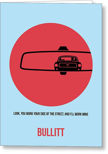 Shows Greeting Cards - Bullitt Poster 1 Greeting Card by Naxart Studio
