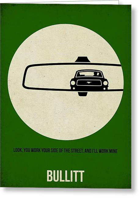 Famous Actor Greeting Cards - Bullitt Poster Greeting Card by Naxart Studio