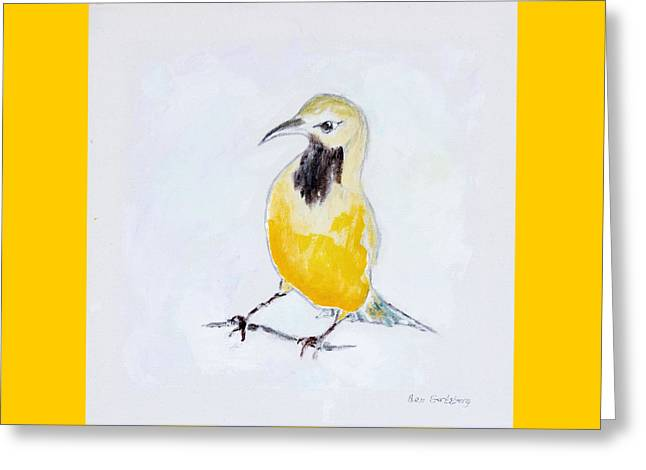 Wild Orchards Paintings Greeting Cards - Bullocks Oriole No 2 Greeting Card by Ben Gertsberg