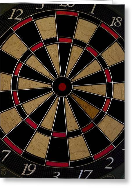 Dartboard Greeting Cards - Bulls Eye Greeting Card by Thomas Woolworth