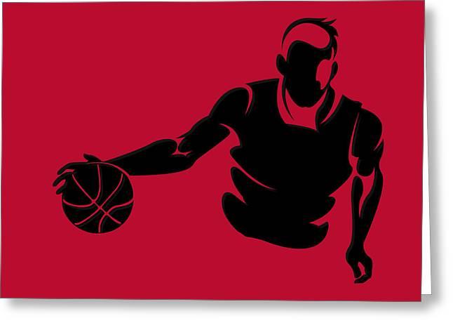 Chicago Bulls Photographs Greeting Cards - Bulls Shadow Player1 Greeting Card by Joe Hamilton