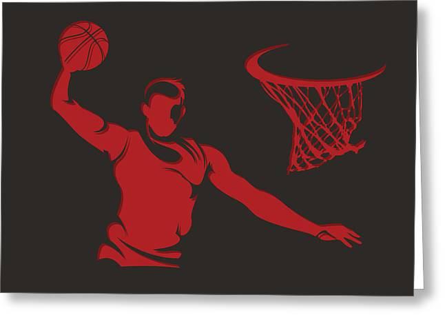 Chicago Bulls Photographs Greeting Cards - Bulls Shadow Player2 Greeting Card by Joe Hamilton