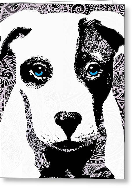 Framed Pit Bull Print Greeting Cards - Bully Greeting Card by Cindy Edwards
