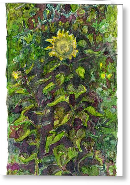 Original Art Photographs Greeting Cards - Bulrich Garden Greeting Card by Greg Larson