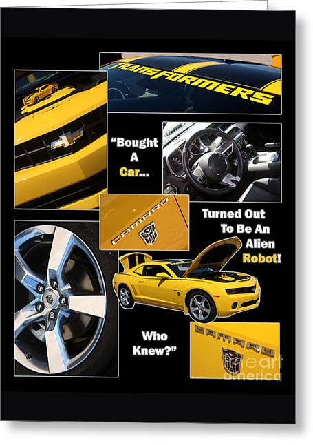Bumble Bee-robot - Poster Greeting Card by Gary Gingrich Galleries